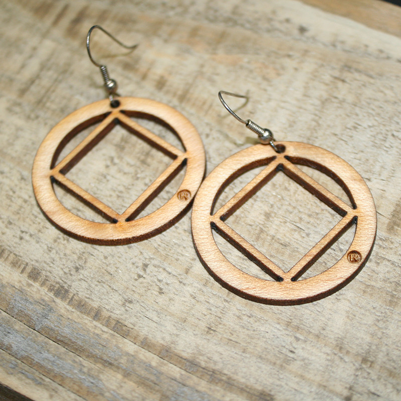 "LASER CUT 1.5"" WOOD EARRINGS"