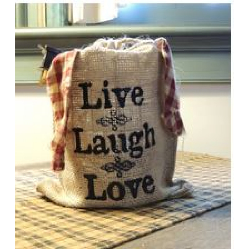 SM LIVE LAUGH LOVE BURLAP LIGHT