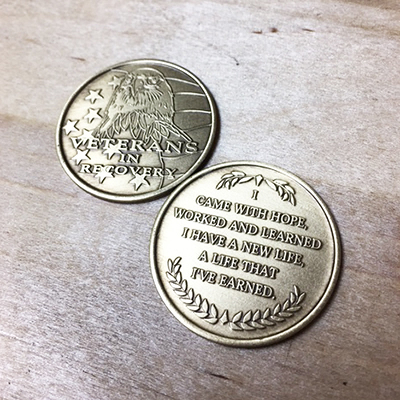 VETS IN RECOVERY BR MEDALLION