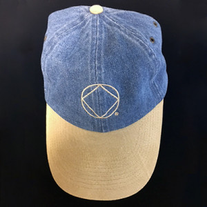 DENIM BASEBALL CAP W/SERV SYM