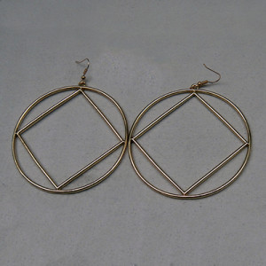 LG HOOP SERVICE SYMBOL EARRINGS